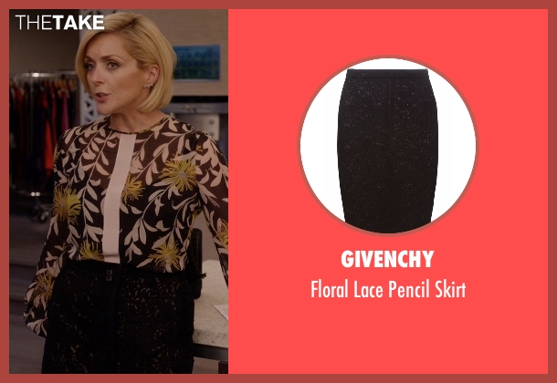 Givenchy black skirt from Unbreakable Kimmy Schmidt seen with Jacqueline Voorhes (Jane Krakowski)