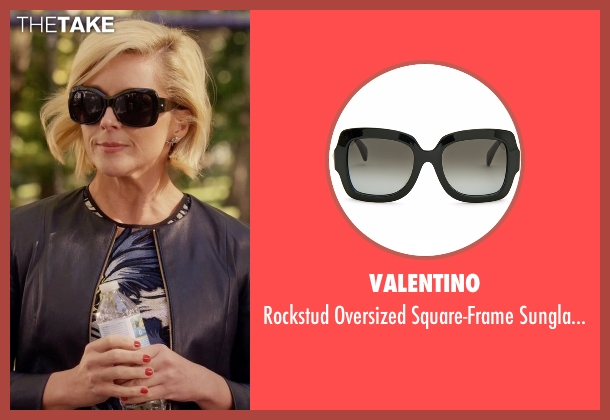 Valentino black sunglasses from Unbreakable Kimmy Schmidt seen with Jacqueline Voorhes (Jane Krakowski)