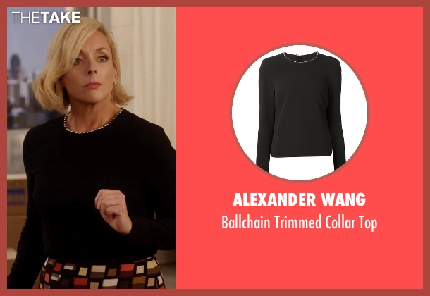 Alexander Wang black top from Unbreakable Kimmy Schmidt seen with Jacqueline Voorhes (Jane Krakowski)