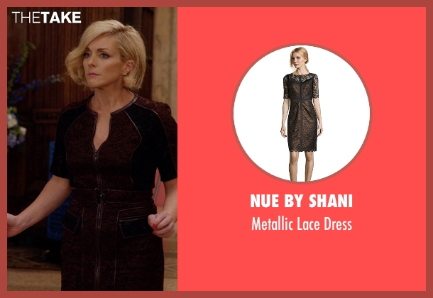 Nue By Shani brown dress from Unbreakable Kimmy Schmidt seen with Jacqueline Voorhes (Jane Krakowski)