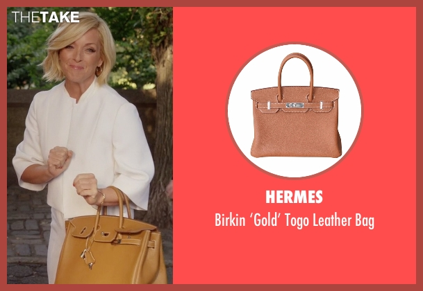 Hermes gold bag from Unbreakable Kimmy Schmidt seen with Jacqueline Voorhes (Jane Krakowski)