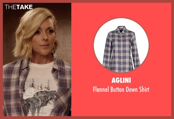 Aglini gray shirt from Unbreakable Kimmy Schmidt seen with Jacqueline Voorhes (Jane Krakowski)