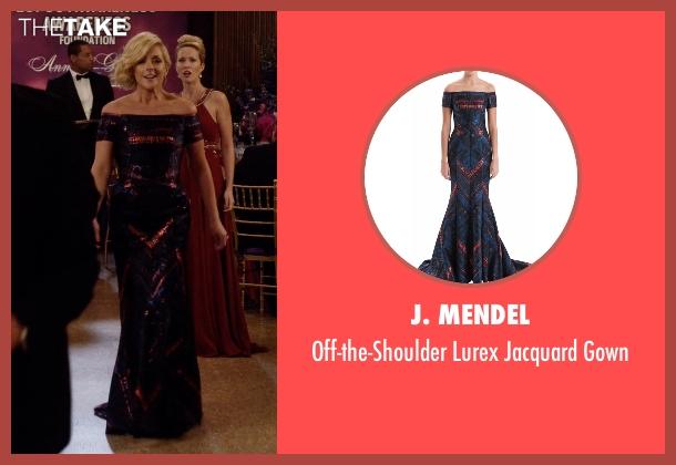J. Mendel purple gown from Unbreakable Kimmy Schmidt seen with Jacqueline Voorhes (Jane Krakowski)