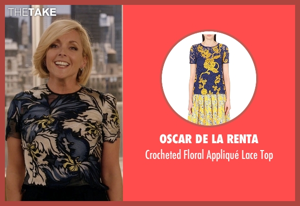 Oscar De La Renta top from Unbreakable Kimmy Schmidt seen with Jacqueline Voorhes (Jane Krakowski)