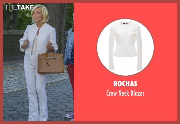 Rochas  white blazer from Unbreakable Kimmy Schmidt seen with Jacqueline Voorhes (Jane Krakowski)