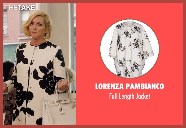 Lorenza Pambianco white jacket from Unbreakable Kimmy Schmidt seen with Jacqueline Voorhes (Jane Krakowski)