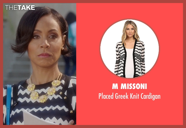 M Missoni black cardigan from Bad Moms seen with Jada Pinkett Smith (Stacy)