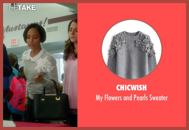 ChicWish gray sweater from Bad Moms seen with Jada Pinkett Smith (Stacy)