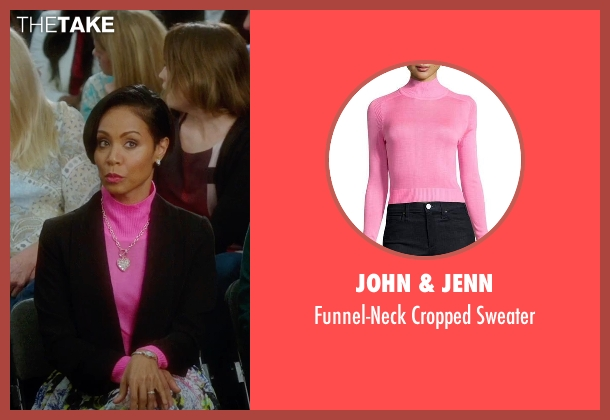 John & Jenn pink sweater from Bad Moms seen with Jada Pinkett Smith (Stacy)