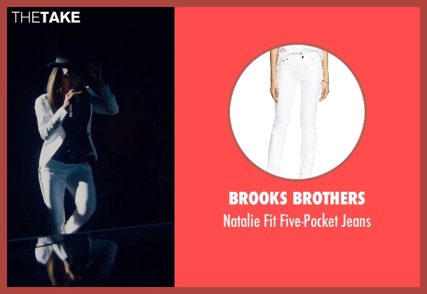 Brooks Brothers white jeans from Magic Mike XXL seen with Jada Pinkett Smith (Unknown Character)