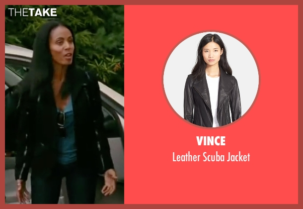 Vince black jacket from The Women seen with Jada Pinkett Smith (Alex Fisher)