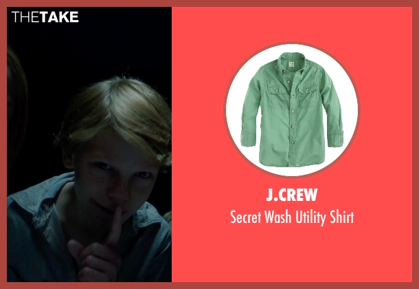 J.Crew green shirt from Sinister 2 seen with Jaden Klein (Ted)