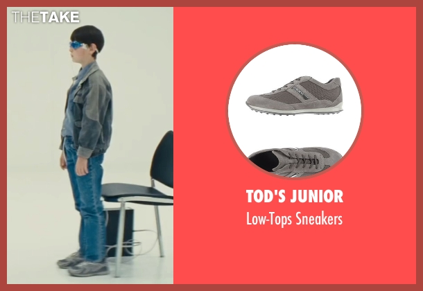 Tod's Junior gray sneakers from Midnight Special seen with Jaeden Lieberher (Alton)