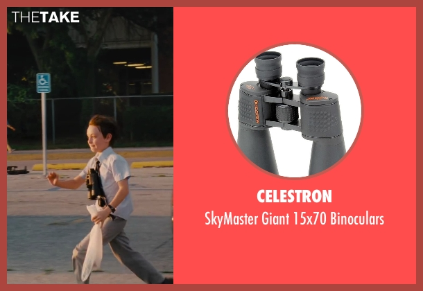 Celestron binoculars from St. Vincent seen with Jaeden Lieberher (Oliver)