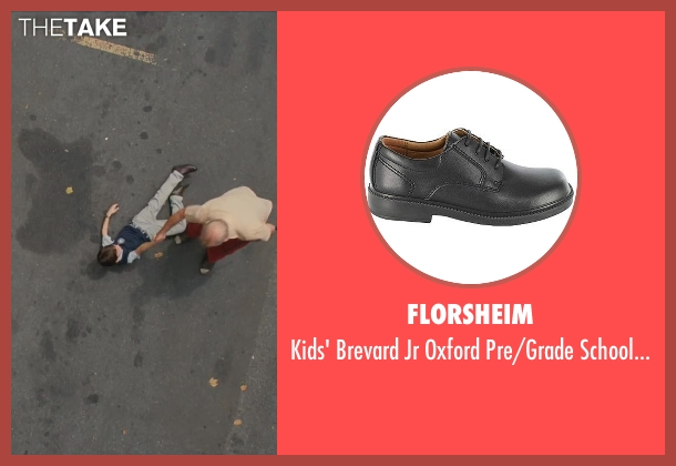 Florsheim black shoes from St. Vincent seen with Jaeden Lieberher (Oliver)