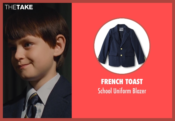 French Toast blue blazer from St. Vincent seen with Jaeden Lieberher (Oliver)