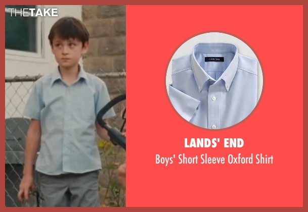Lands' End blue shirt from St. Vincent seen with Jaeden Lieberher (Oliver)