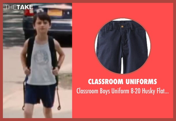 Classroom Uniforms blue short from St. Vincent seen with Jaeden Lieberher (Oliver)