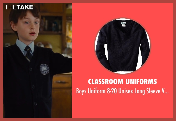 Classroom Uniforms blue sweater from St. Vincent seen with Jaeden Lieberher (Oliver)