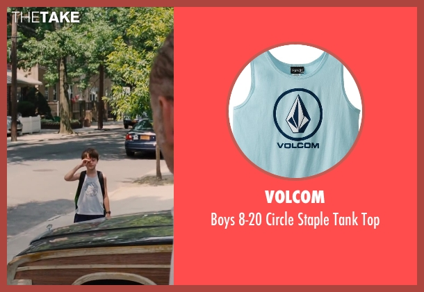 Volcom blue top from St. Vincent seen with Jaeden Lieberher (Oliver)
