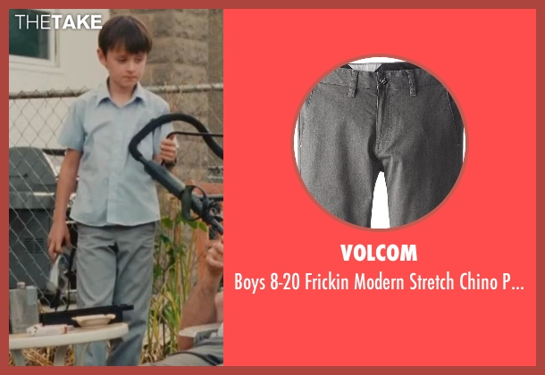 Volcom gray pant from St. Vincent seen with Jaeden Lieberher (Oliver)
