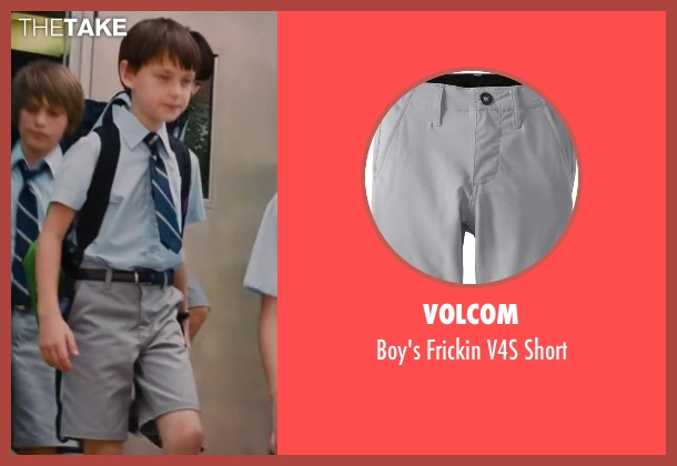 Volcom gray short from St. Vincent seen with Jaeden Lieberher (Oliver)