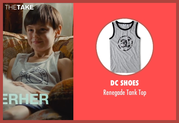 DC Shoes gray top from St. Vincent seen with Jaeden Lieberher (Oliver)