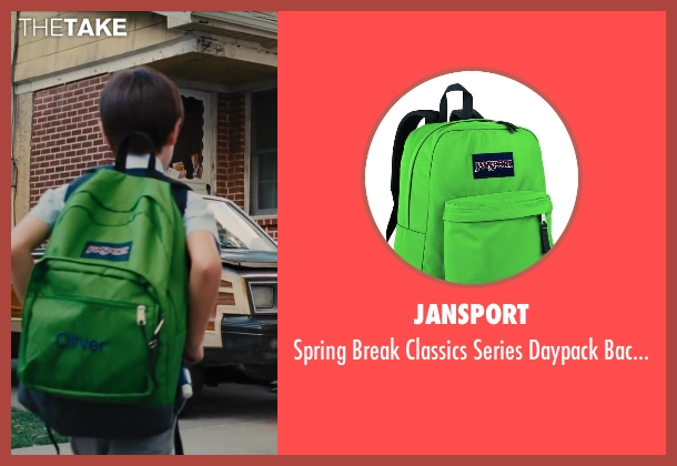 Jansport green backpack from St. Vincent seen with Jaeden Lieberher (Oliver)