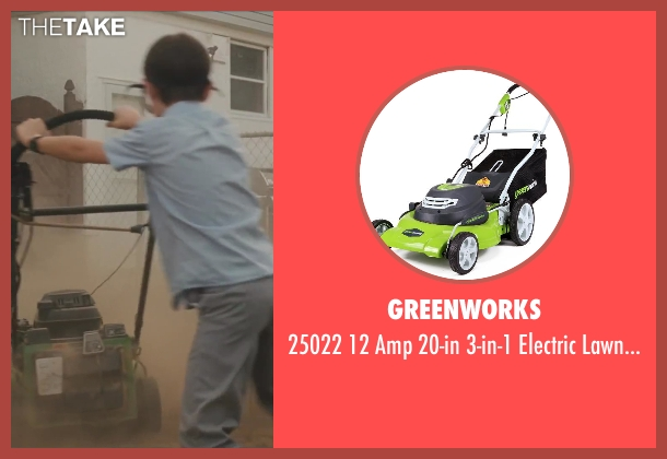 GreenWorks mower from St. Vincent seen with Jaeden Lieberher (Oliver)
