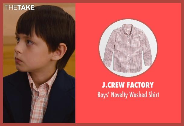 J.Crew Factory shirt from St. Vincent seen with Jaeden Lieberher (Oliver)