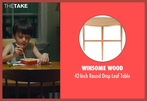 Winsome Wood table from St. Vincent seen with Jaeden Lieberher (Oliver)