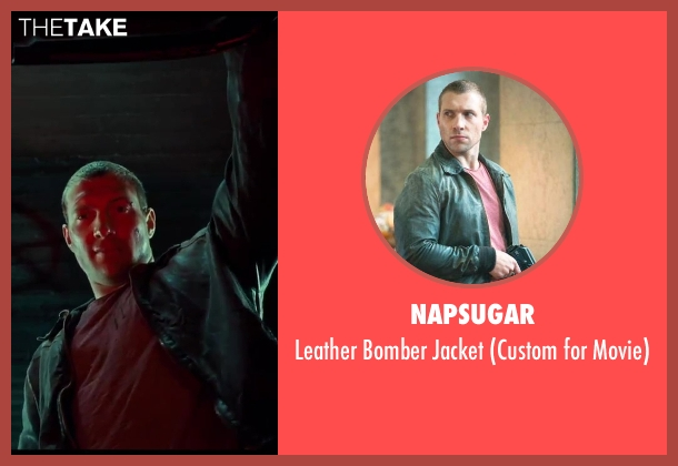 Napsugar black jacket from A Good Day to Die Hard seen with Jai Courtney (Jack McClane)