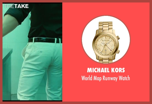 Michael Kors gold watch from A Good Day to Die Hard seen with Jai Courtney (Jack McClane)