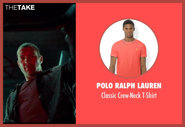 Polo Ralph Lauren red t-shirt from A Good Day to Die Hard seen with Jai Courtney (Jack McClane)