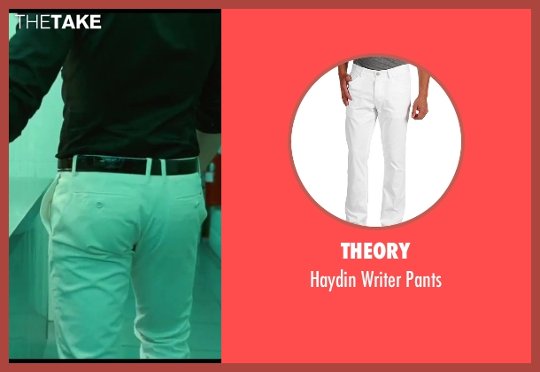 Theory white pants from A Good Day to Die Hard seen with Jai Courtney (Jack McClane)