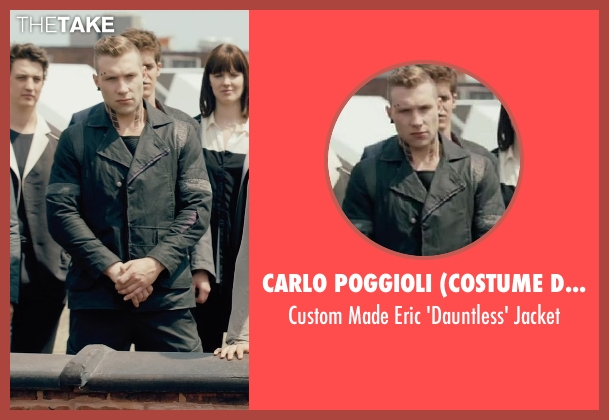 Carlo Poggioli (Costume Designer) black jacket from Divergent seen with Jai Courtney (Eric)