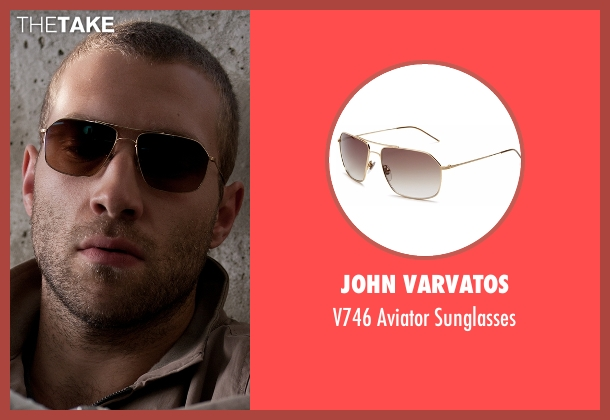 John Varvatos gold sunglasses from Jack Reacher seen with Jai Courtney (Charlie)