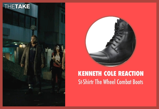 Kenneth Cole Reaction black boots from Suicide Squad seen with Jai Courtney (Captain Boomerang)