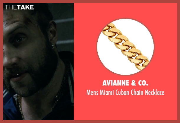 Avianne & Co. necklace from Suicide Squad seen with Jai Courtney (Captain Boomerang)
