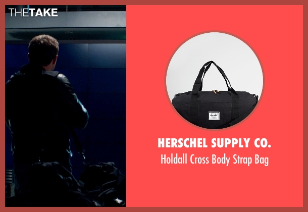 Herschel Supply Co. black bag from Terminator: Genisys seen with Jai Courtney (Kyle Reese)
