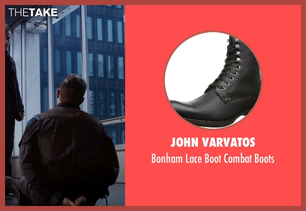 John Varvatos black boots from The Divergent Series: Insurgent seen with Jai Courtney (Eric)