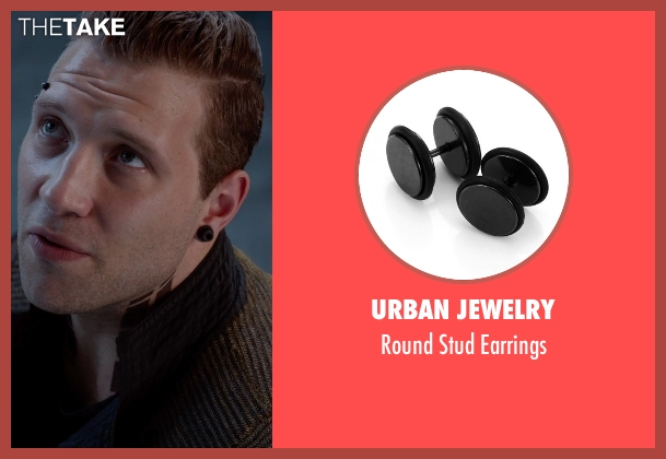 Urban Jewelry black earrings from The Divergent Series: Insurgent seen with Jai Courtney (Eric)