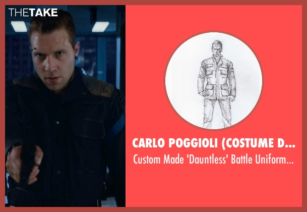 Carlo Poggioli (Costume Designer) black jacket from The Divergent Series: Insurgent seen with Jai Courtney (Eric)