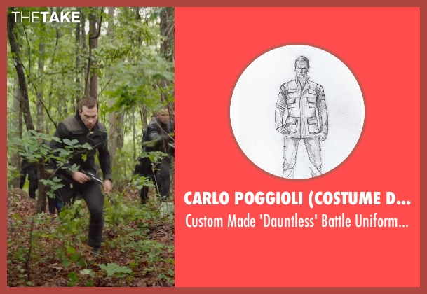 Carlo Poggioli (Costume Designer) black pants from The Divergent Series: Insurgent seen with Jai Courtney (Eric)