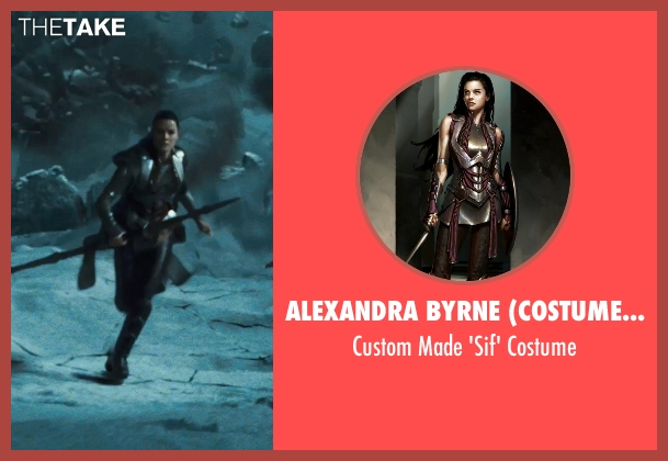 Alexandra Byrne (Costume Designer) costume from Thor seen with Jaimie Alexander (Sif)
