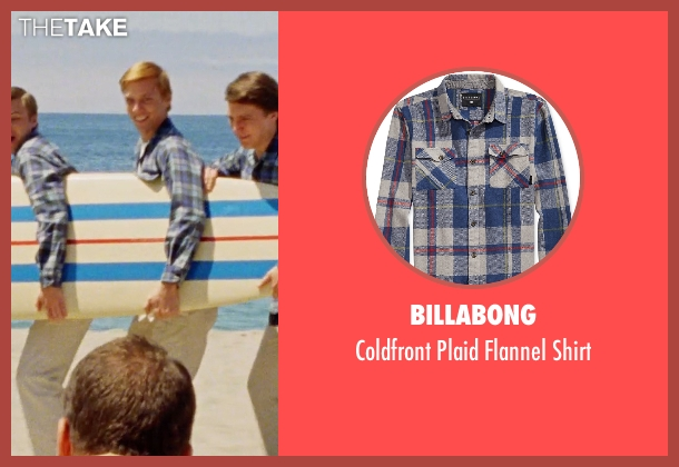 Billabong blue shirt from Love & Mercy seen with Jake Abel (Mike Love)