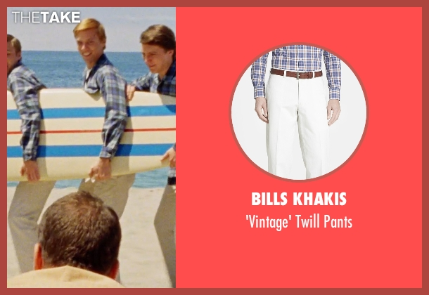 Bills Khakis white pants from Love & Mercy seen with Jake Abel (Mike Love)
