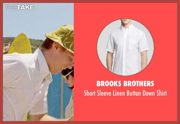 Brooks Brothers white shirt from Love & Mercy seen with Jake Abel (Mike Love)