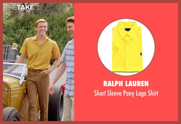 Ralph Lauren yellow shirt from Love & Mercy seen with Jake Abel (Mike Love)