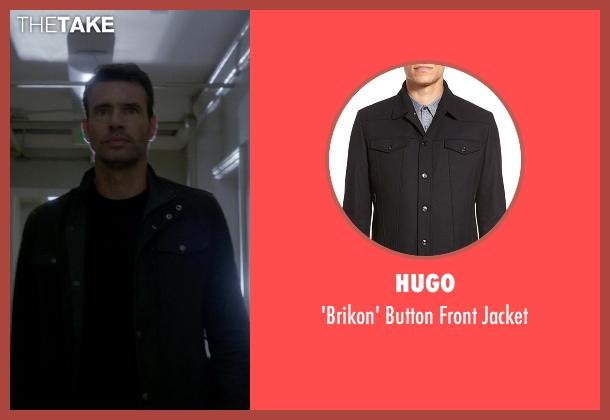 Hugo black jacket from Scandal seen with Jake Ballard (Scott Foley)